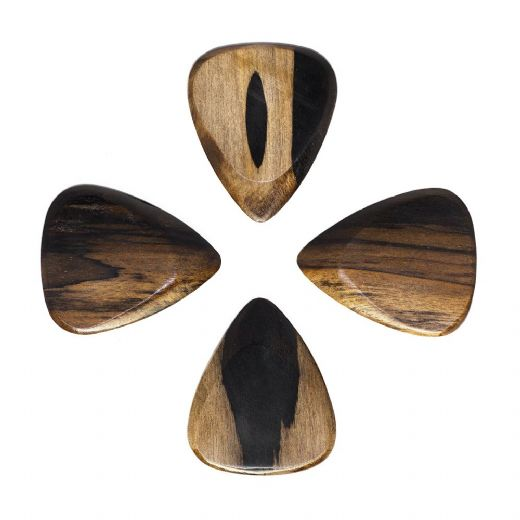 Timber Tones Fat Malay Ebony Pack of 4 Guitar Picks
